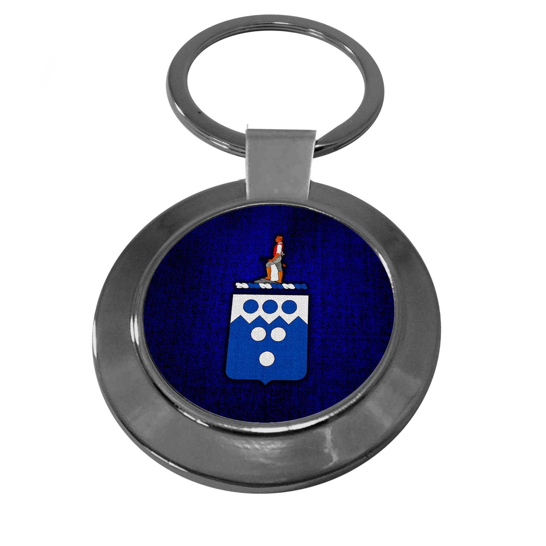 Premium Key Ring with U.S. Army 321st Military Intelligence Battalion, coat of arms