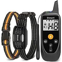 Dimunt Collar de entrenamiento para perros – Collares de choque recargables para perros con control remoto IP67…