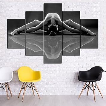 Amazon.com: Yoga 5 piezas pintura en lienzo: Home & Kitchen