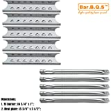Bar.b.q.s Stainless Steel Burner Heat Plates Replacement for Select Kenmore and Master Forge Gas Grill Models … (Repari Kit)