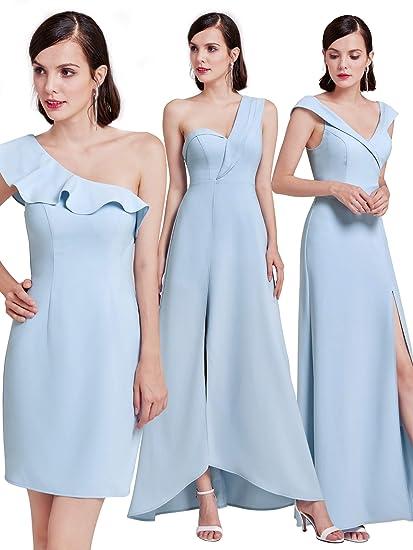 Ever Pretty Womens V Neck Off The Shoulder Long Elegant Evening Dresses Sky Blue 8UK