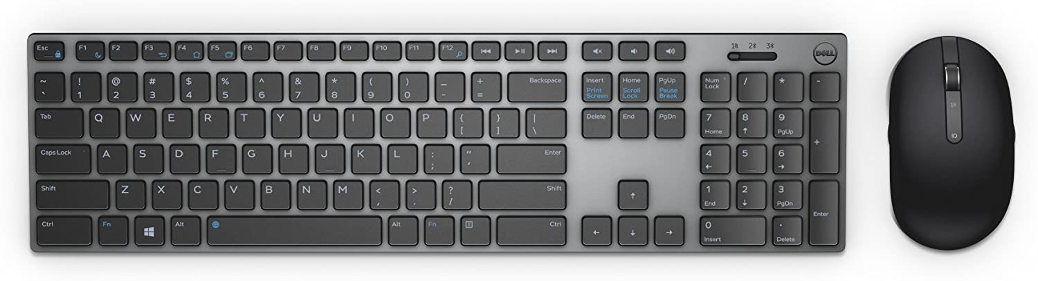 Dell Marketing USA, LP KM717 Premier Wireless Keyboard and Mouse,Gray