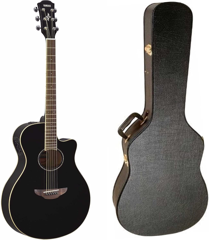 Yamaha apx600bl Thinline Electroacústica guitarra (negro) con ...