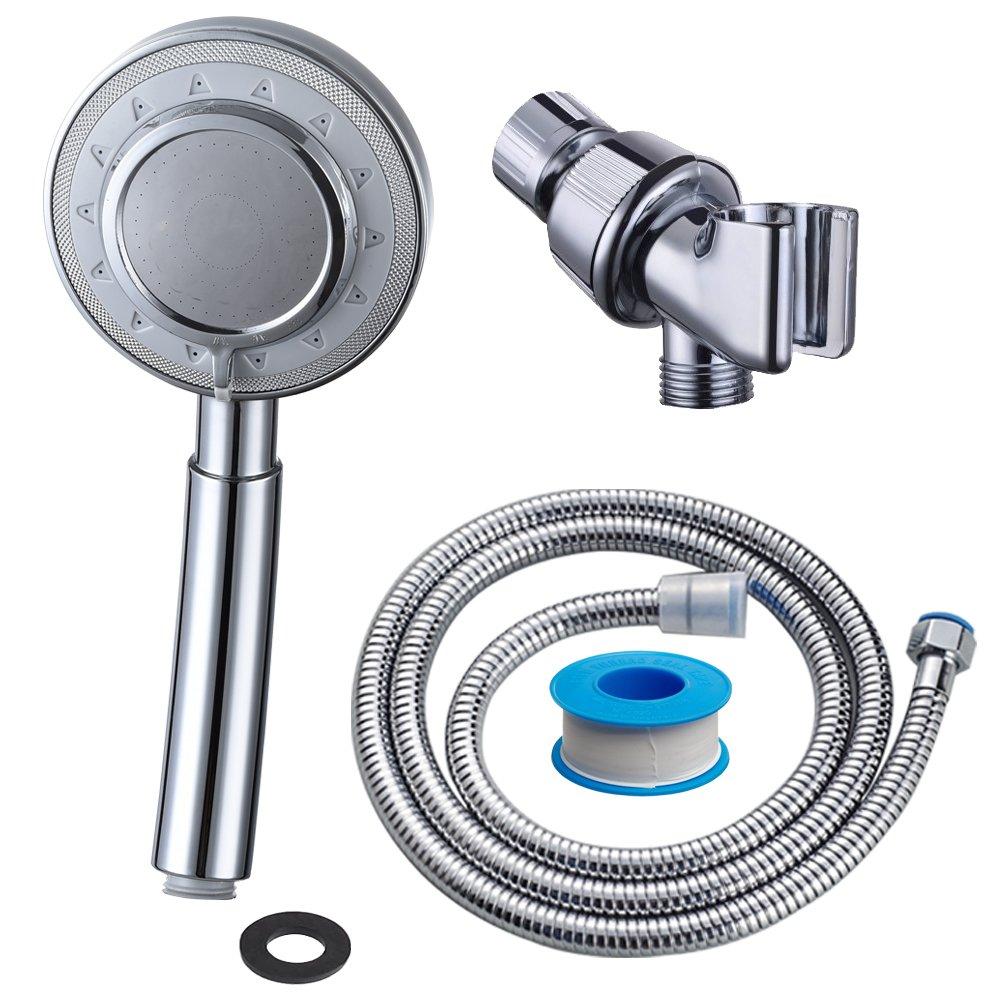 CIENCIA Soffione Doccia Alta Pressione 3 Funzione Soffione Doccia a Mano Aluminium Universale Telefoni Doccia, BS143