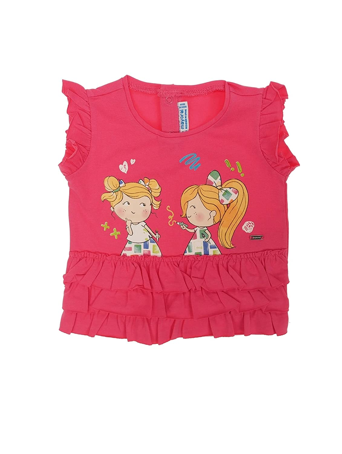 S//s t-Shirt for Baby-Girls Mayoral 1016 Fuchsia