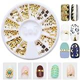 Joyeee 3D Carrousel Argente Strass boites Cristal Ongle Manucure Nail Art Décoration - Alliage