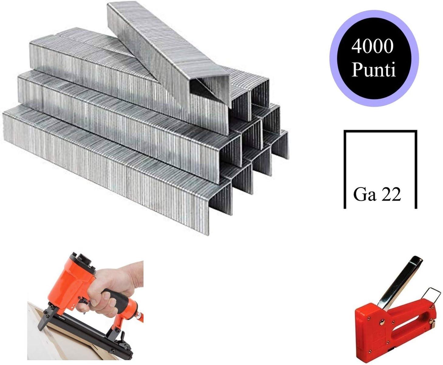 GA22, 12 MM Spillette punti metallici 4000 pezzi affilatura chimica