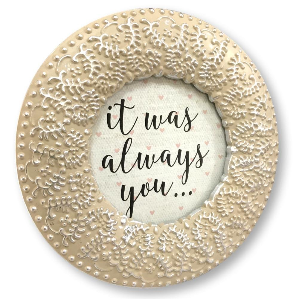 Enchante Accessories Picture Photo Frame Round Natural Silver Ornate Scroll Fleur Vintage 3 by 3