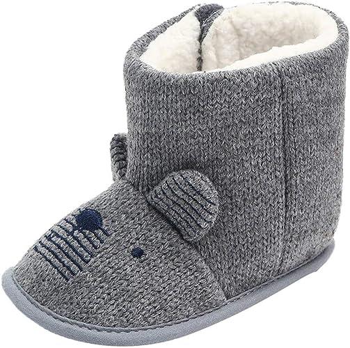 Unisex Baby Snow Boots Infant Soft Sole Fleece Antiskid Winter Shoes