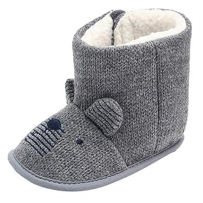 15d1190f27e7c Amazon.com: Gooldu Baby Cartoon Ears high Boots Cotton Boots Warm ...