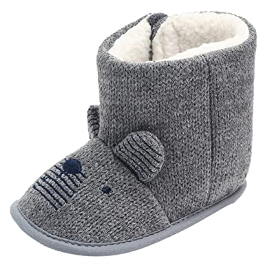 f2fc5e69d Infant Ankle Boots Girls Boys Baby Snow Boots Fur Lined Boots Ear Anti-Slip  Warm