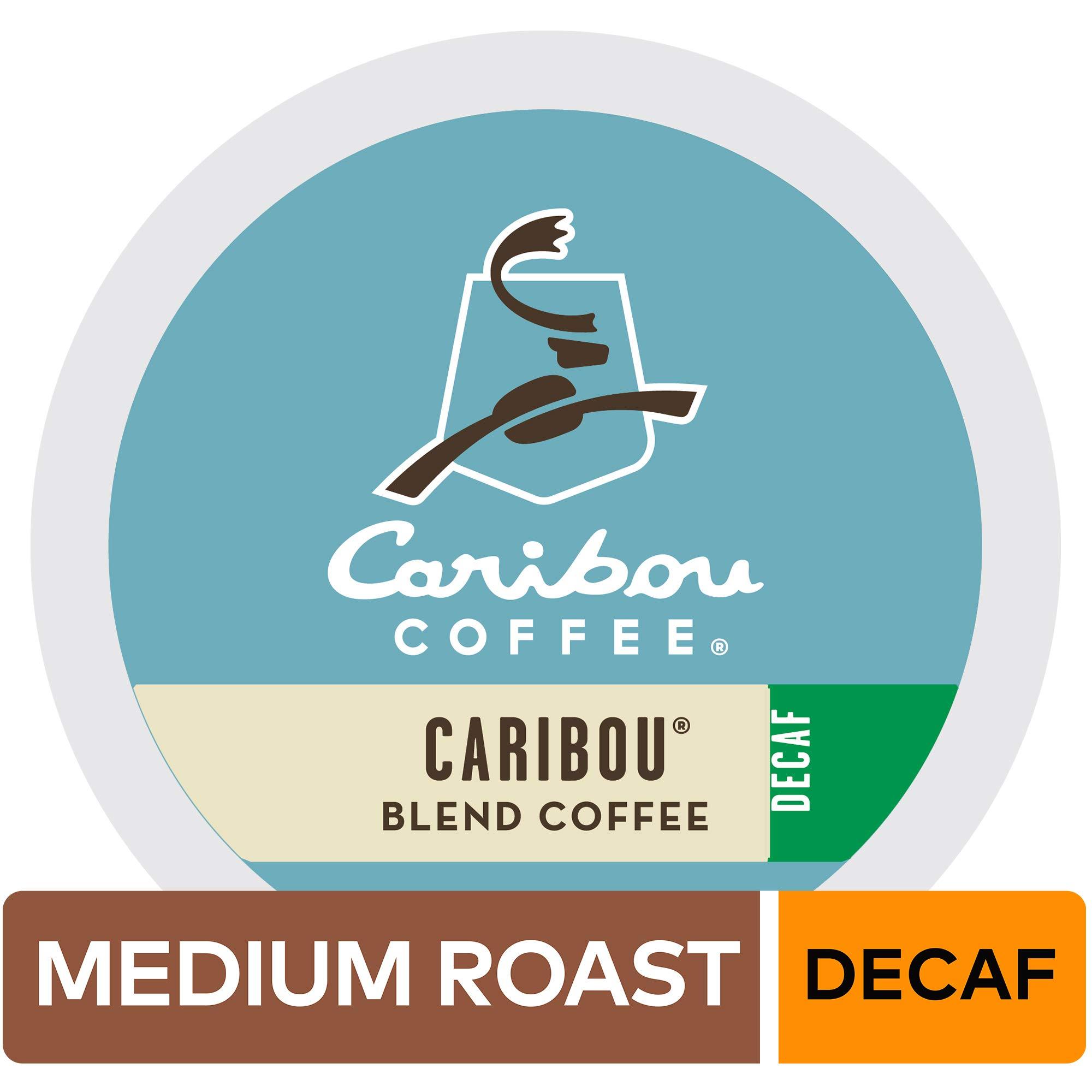 Caribou Coffee Caribou Blend, Single Serve Coffee K-Cup Pod, Decaf, 96