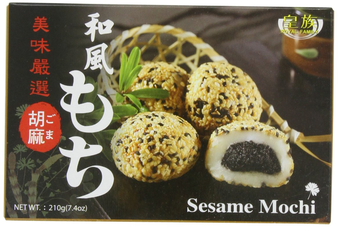 Royal Family Japanese Mochi Sesame, 7.4-Ounce (Pack of 8) by Royal Family