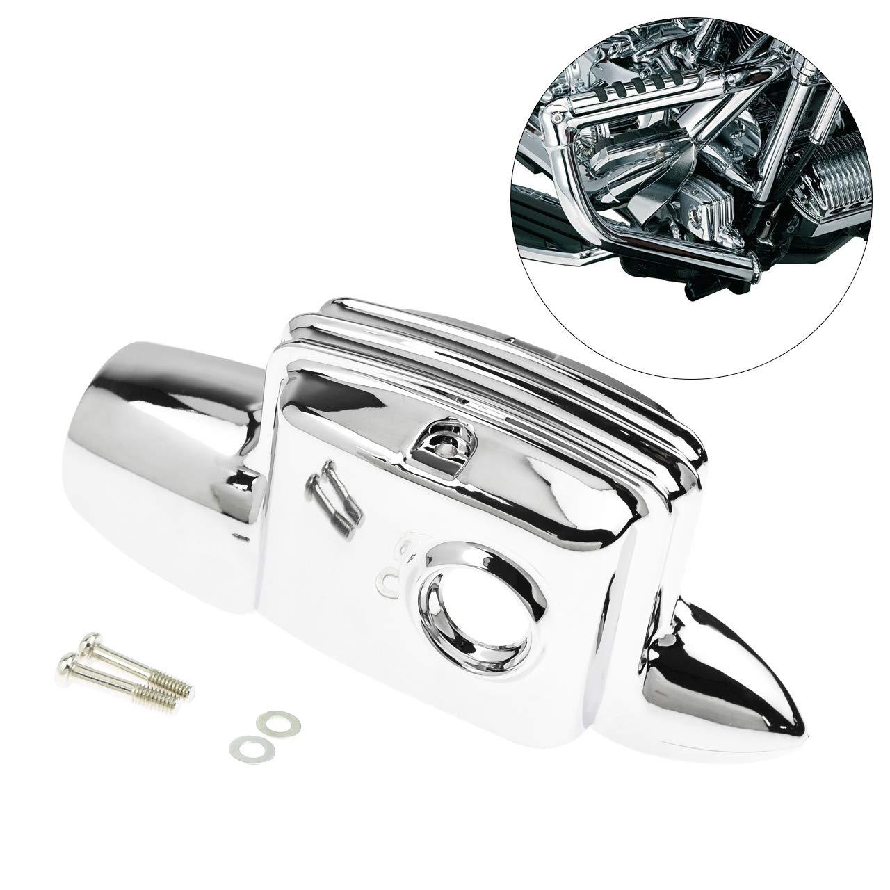 REBACKER Chrome Rear Brake Master Cylinder Cover Fit For Harley FLHT FLHX FLHR 2008-2019