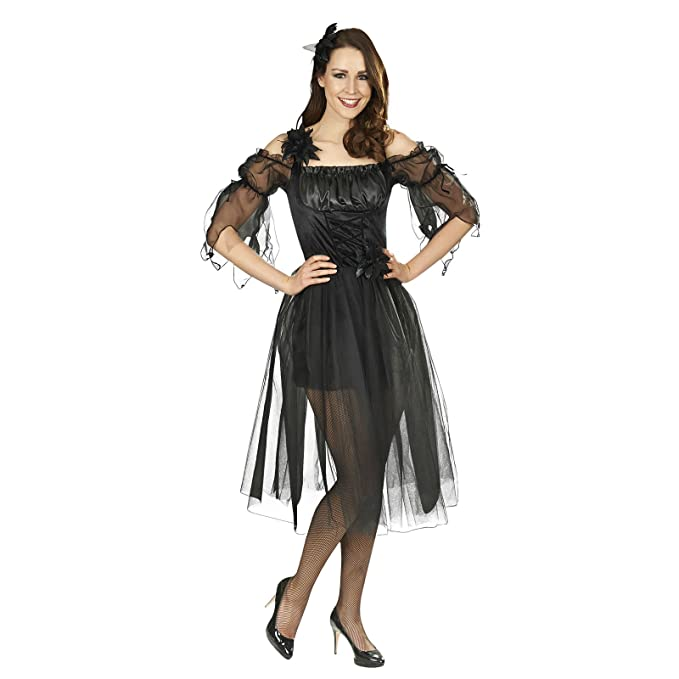 Black Fairy Fee Kostüm per Donne - Incantevole Elf Fairy Fairytale per  Carnevale o la rappresentazione teatrale  Amazon.it  Abbigliamento 2e2cf7f98d6
