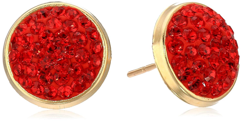 10k Yellow Gold Swarovski Zirconia Round Earring