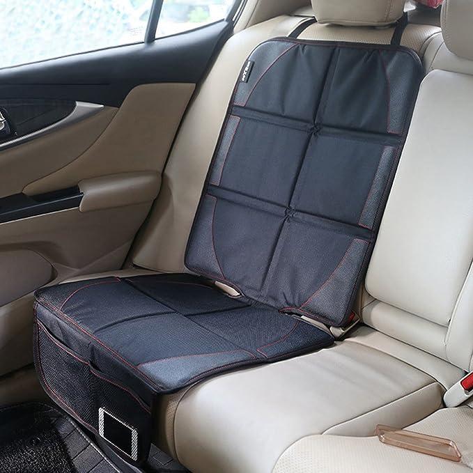 SONARIN Auto cuscino del sedile,Protettori per Sedile di Seggiolini Bambini Nero - Curvo offre protezione spessa per seggiolini auto per bambini e neonati.Vestibilit/à Universale