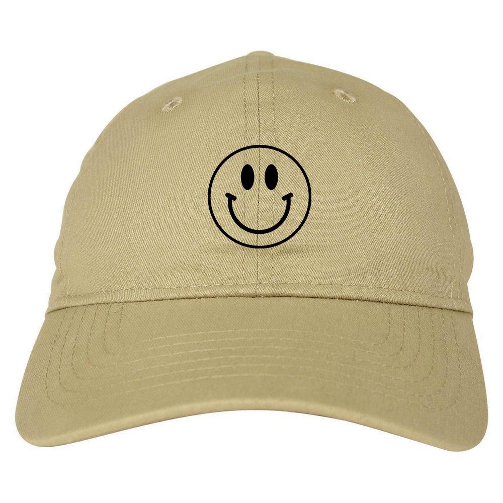 348476bb6fc Happy face smiley emoji dad hat panel baseball cap beige clothing jpg  1000x1000 Smiley face dad