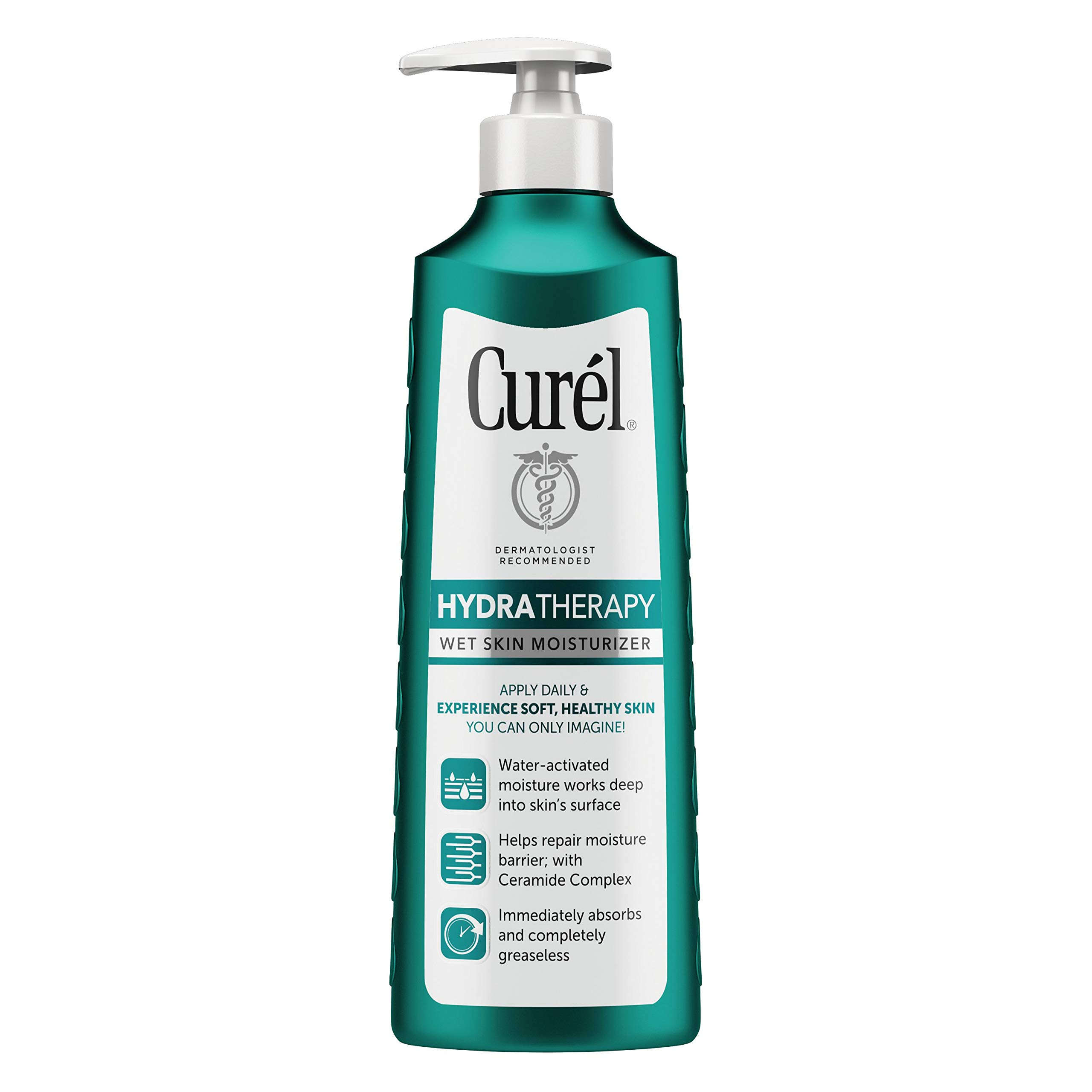 Curél Hydra Therapy In Shower Lotion, Wet Skin Moisturizer for Dry or Extra-dry Skin, 8 Ounce, with Advanced Ceramide Complex, for Optimal Moisture Retention