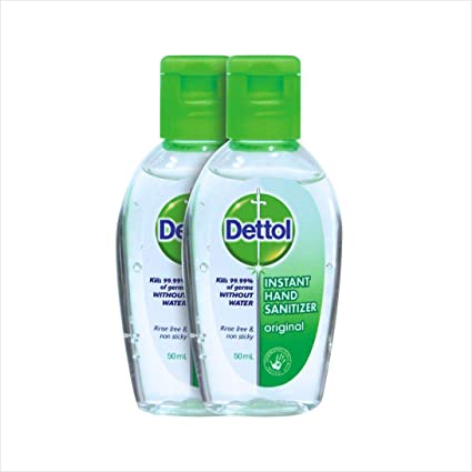 Dettol Hand Sanitizer Original 25ml Pack Of 2 Amazon Co Uk Beauty