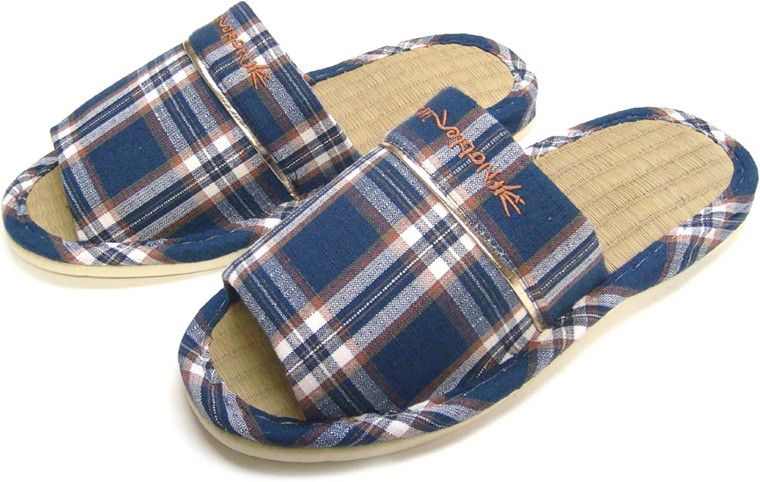 KNP26019T/ Men Wide Width Open-Toe Natural Bamboo House Slippers