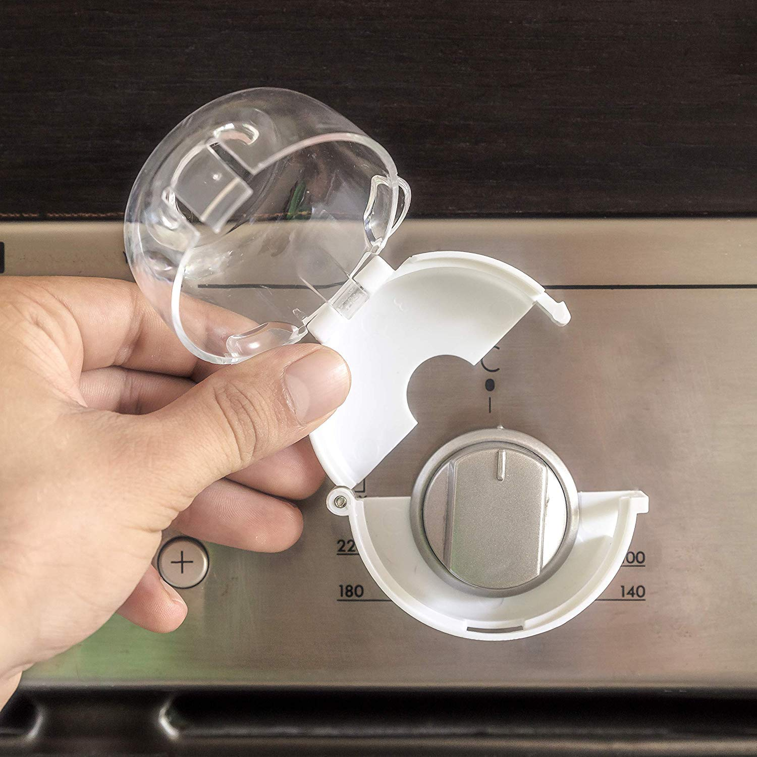 REFURBISHHOUSE Clear Safety Oven Knobs Cover 4 Pack Baby Proofing Protection Lock for Ovens//Stoves When Kids Protective Durable Knob That Fits Most Ovens Toddler Around Children