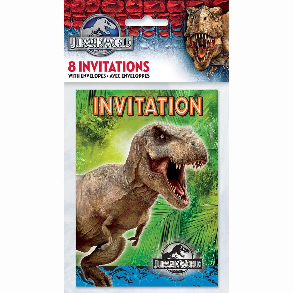 Amazoncom Jurassic World Party Invitations 8ct Toys Games