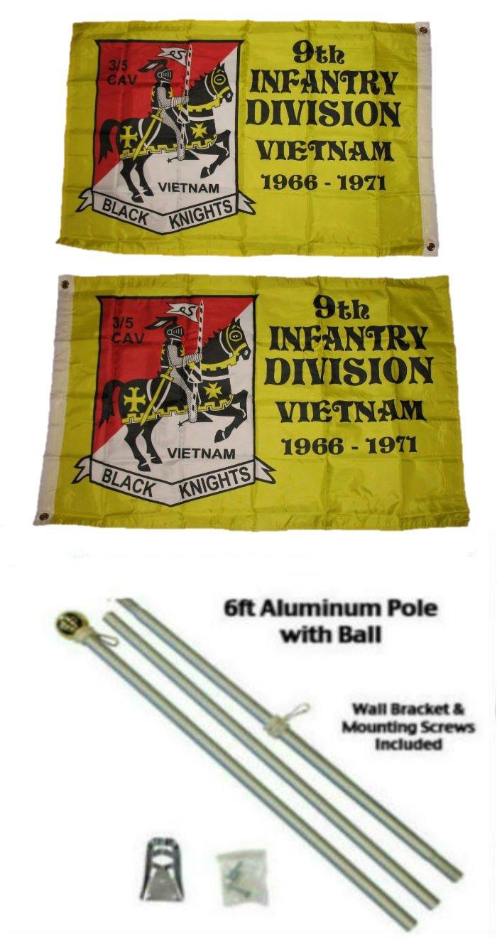 最安 2 x x 3 2 ' ' x3 ' 9th 9th Infantry Division両面2ply国旗アルミニウムポールキットゴールドボールトップ B01NCPZVCD, テーブルサプライ 卓彩:41bc6722 --- vezam.lt