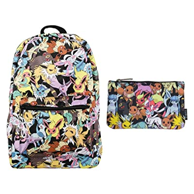 Loungefly Pokemon Backpack and Pencil Case School Bundle Set