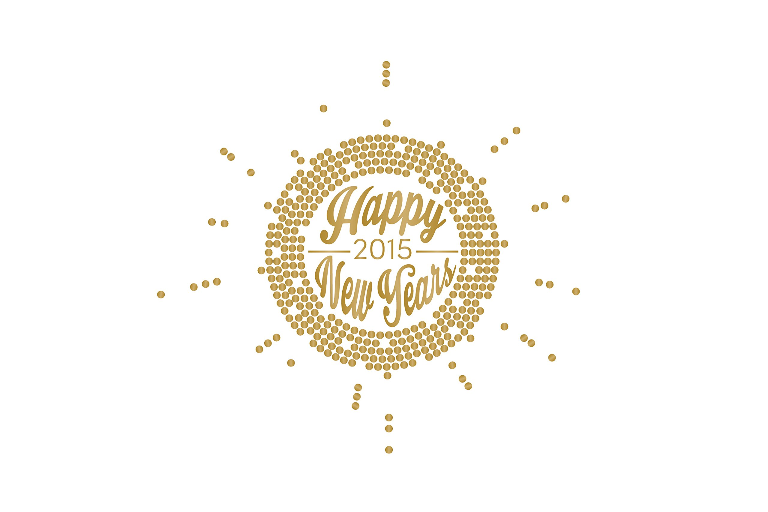 New Years Eve Matte Gold Burst - Vinyl Wall Art Decal for Homes, Offices, Kids Rooms, Nurseries, Schools, High Schools, Colleges, Universities, Interior Designers, Architects, Remodelers