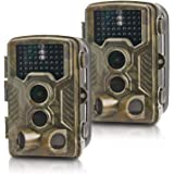 """REXING H3 Electronic Animal Trail Caller CAM W / 2,8"""" LCD, 2.7K Vídeo + 20MP Foto, Night Vision.2s Trigger, 100FT Range, 512G"""