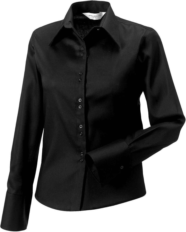 Russell Collection camisa manga larga Non Iron 956 F Negro ...