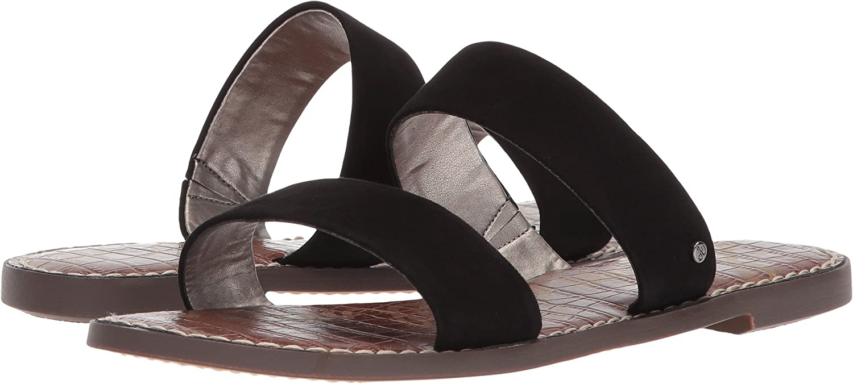 Sam Edelman Women's Gala Slide Sandal B076MGWG5X 7.5 W US|Black Kid Suede Leather