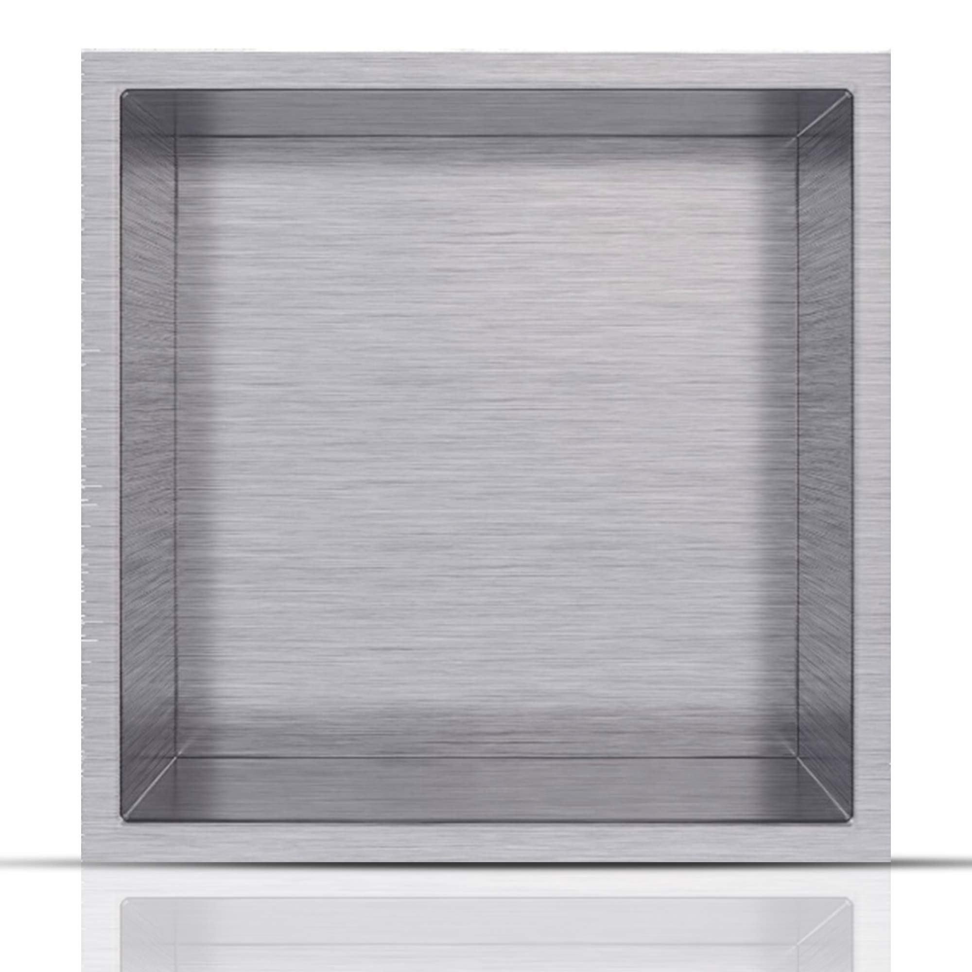 Shower Niche 12'' x 12'' Stainless Steel | Elegant Design | In Wall Shell Installation for Bathroom | Color: Brush Nickel