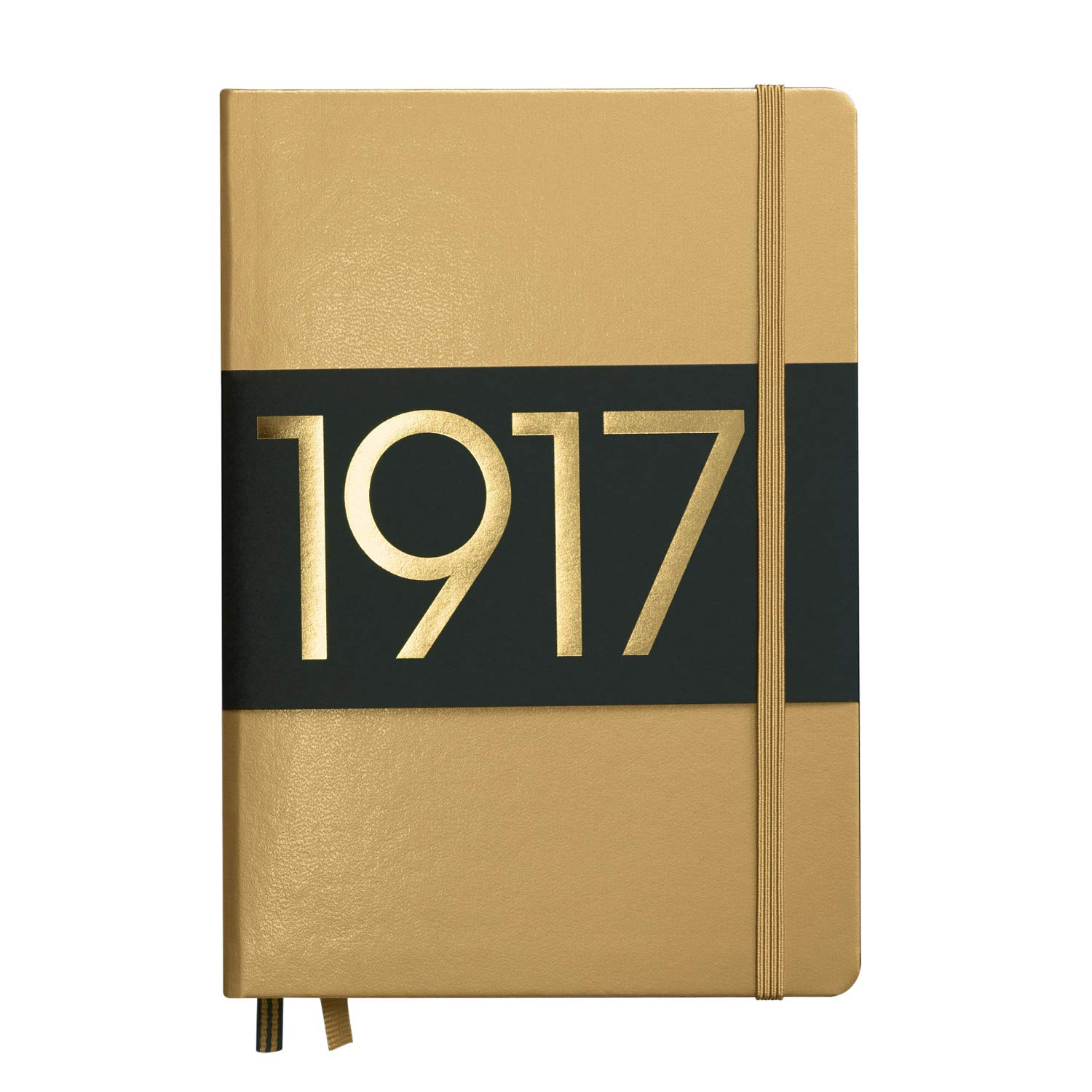 Leuchtturm1917 – Cuaderno, color metálico Edition, color dorado Mediano (A5)