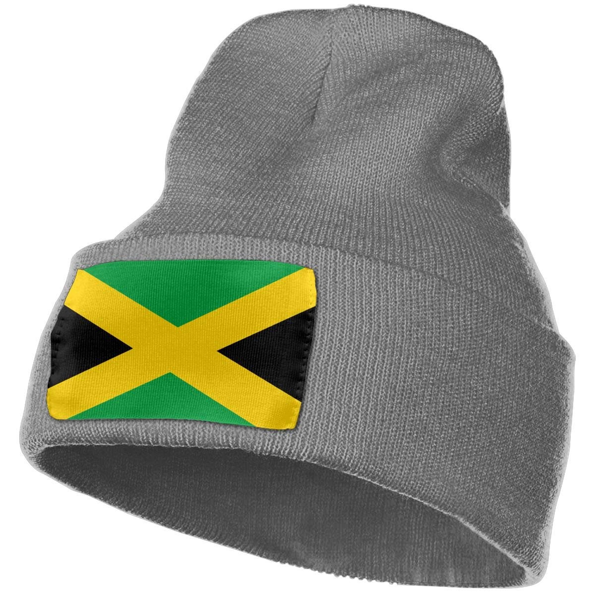 TAOMAP89 Jamaica Flag Women and Men Skull Caps Winter Warm Stretchy Knit Beanie Hats