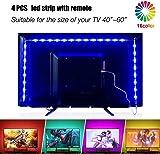 2m Led Strips Lights with Remote, USB TV Backlight Kit for 40-60in TV, Bias Lighting RGB Light Strips TV Led Lights