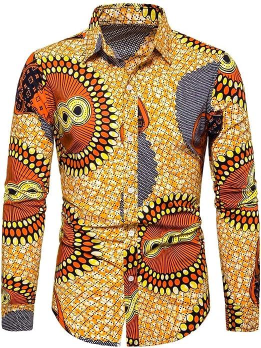 linqiudD Fashion Trend Men Plaid Business Casual Long Sleeve Turn-Down Collar Shirts