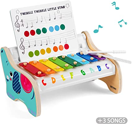 1x Fashion Mini 5-Note Xylophone Musical Instrument Toys Gift For Baby Kid Child