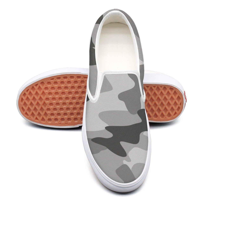 VCERTHDF Grey Camouflage Print Slip-On Shoe Mens White