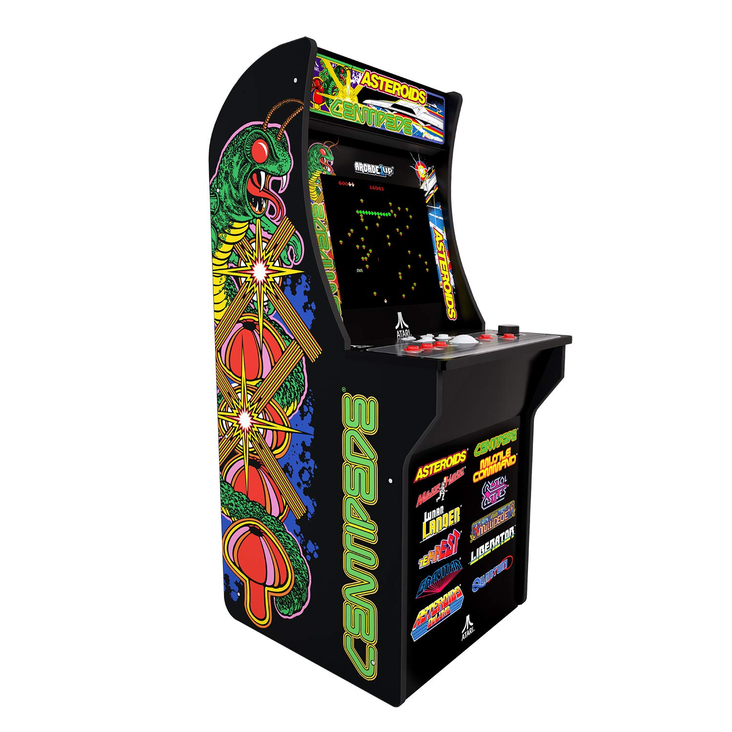 Arcade1Up Deluxe Edition 12-in-1 Arcade Cabinet with Riser, 5 feet by Arcade1Up