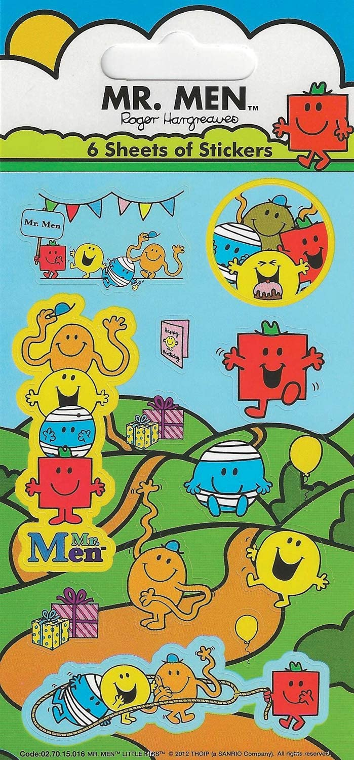 MR MEN LITTLE MISS CHARACTERS HARGREAVES STICKER SET//4 STICKERS SEALED PACKAGE