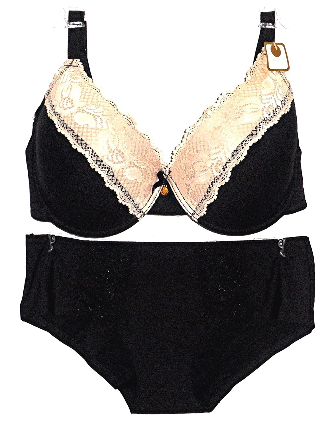 color brilliancy fashionablestyle world-wide selection of Adrienne Vittadini Full Figure Bra/ Hipster Panty Set (42D ...