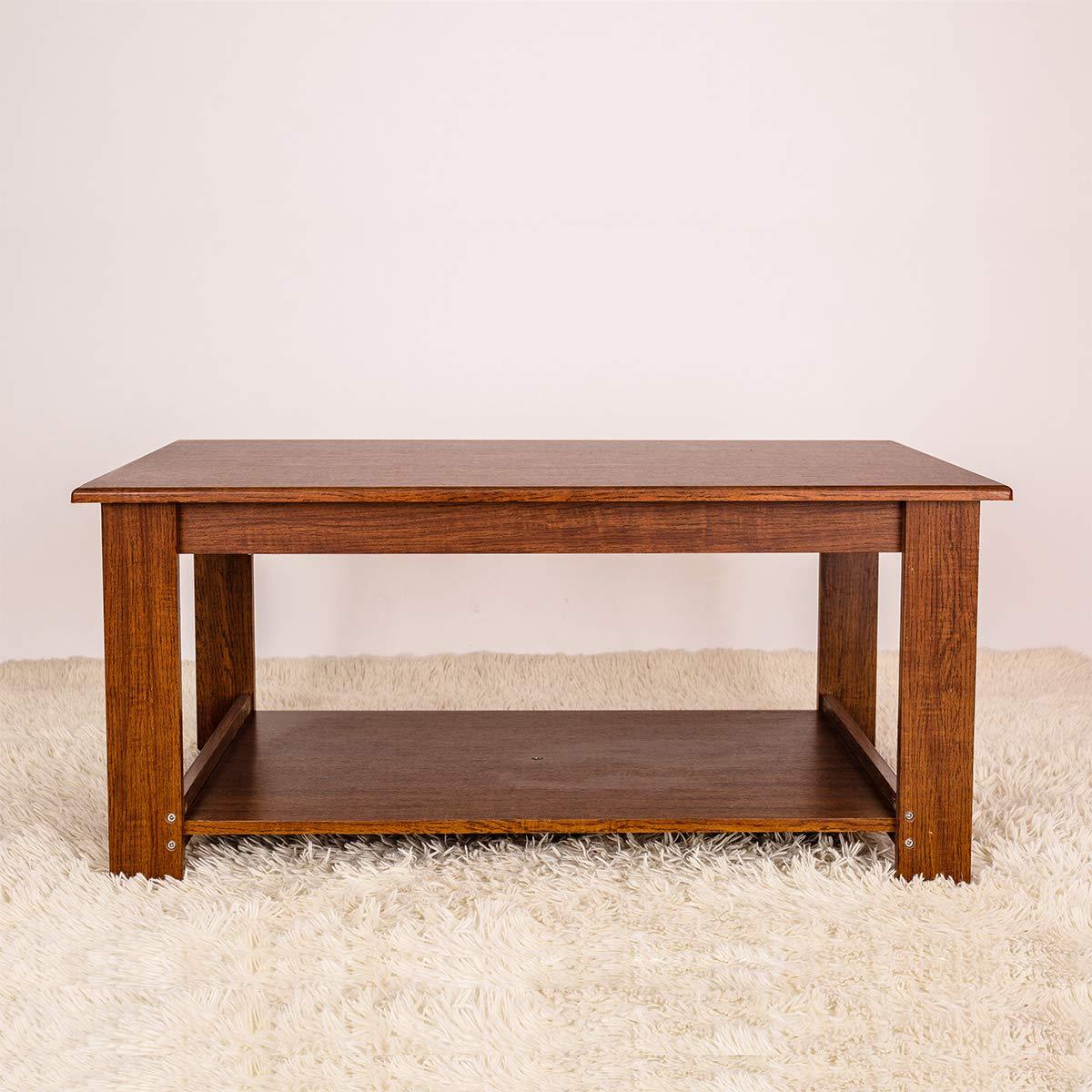 Amazon.com: GRAFZEAL Coffee Table, Sofa Cocktail Table with ...