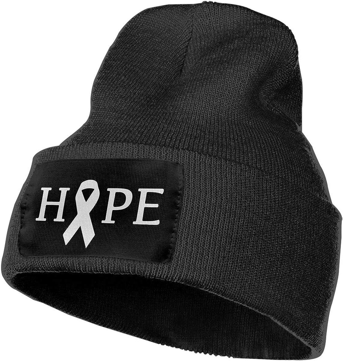 COLLJL-8 Men /& Women Hope Lung Cancer Outdoor Warm Knit Beanies Hat Soft Winter Skull Caps