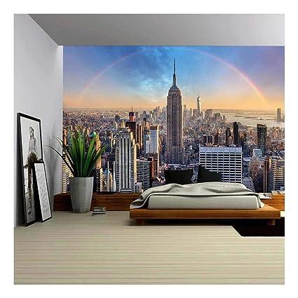amazon com wall26 york city rainbow skyline canvas art wall