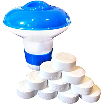 Mini dosificadora Flotador Aprox. 12 cm de Diámetro x h 12 cm para hasta 10 Cloro