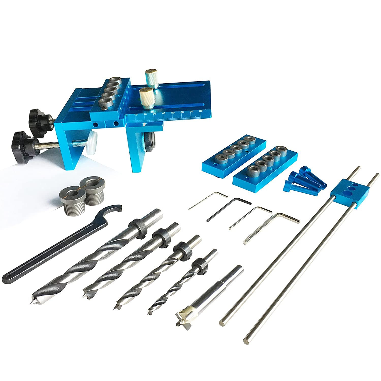 Universal High Precision Jig Dowel Cam Jig Minifix Jig Kit, PANGOLIN Wood Hole Drilling Guide Woodworking Position for DIY Wood working,Furniture Repair or handyman,and Keep with 5 Year Warranty.