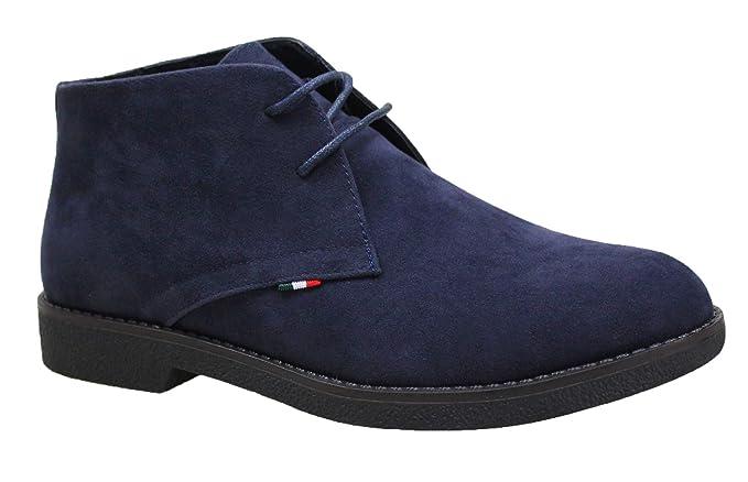 Evoga Polacchine uomo camoscio blu scuro scarpe casual man s shoes (40) 82a941845cd