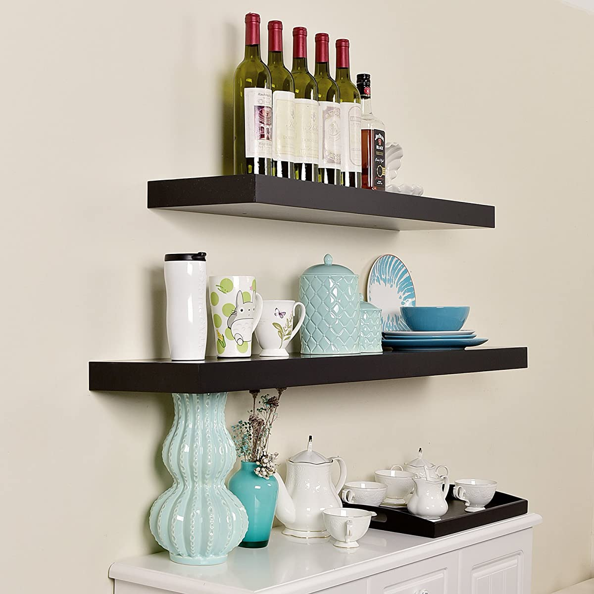 WELLAND Chicago Floating Shelf, 36-Inch, Black